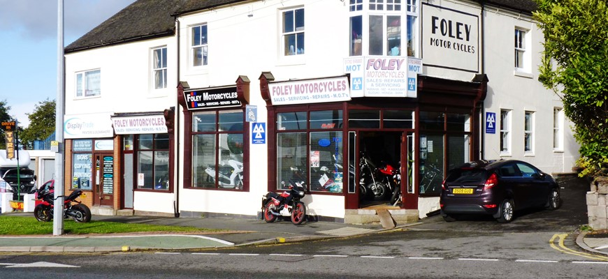 PRICE REDUCED - STAFFORDSHIRE – Motorcycle Sales & Repair Centre